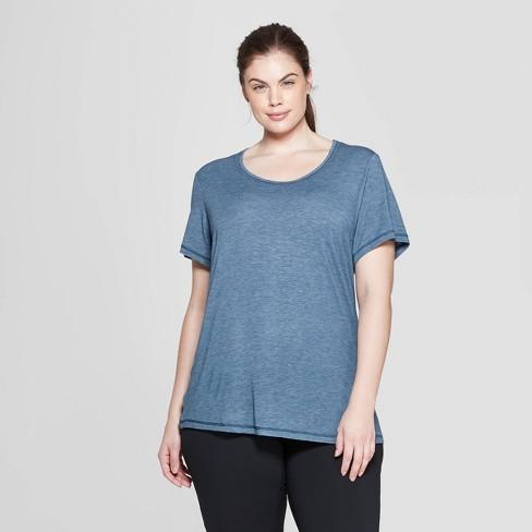 aa298186f9a8f Women s Plus Size Short Sleeve Draped T-Shirt - C9 Champion® Gray ...