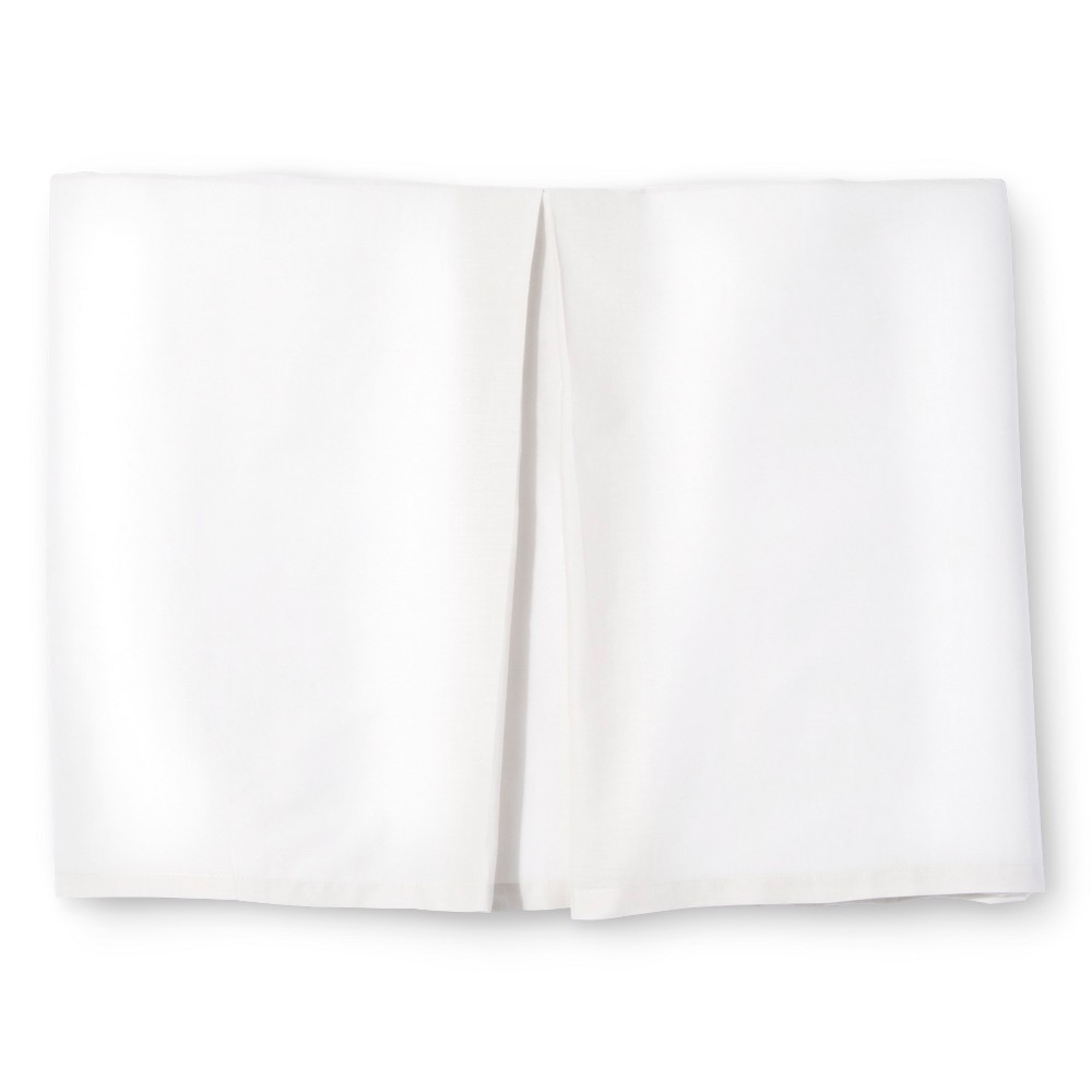 White Rizzy Home Knots Texture Bed Skirt (Queen)