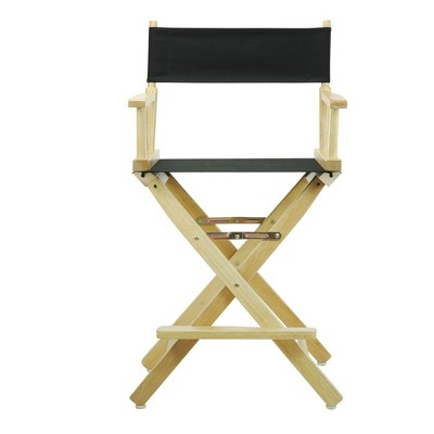 Director's Chair Counter Height Canvas Black/Natural Flora Homes