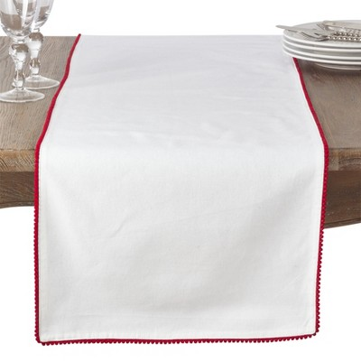 White Solid Table Runner - Saro Lifestyle