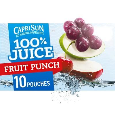 Capri Sun 100% Fruit Punch Juice - 10pk/6 fl oz Pouches