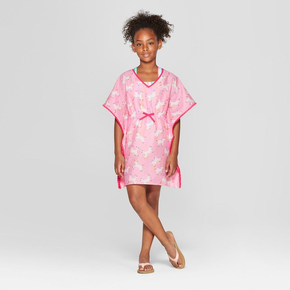 Girls' Unicorn Cover Up Dresses - Cat & Jack Pink XL