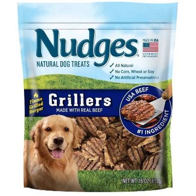 Nudges Grillers Beef Burger Dog Treats - 16oz