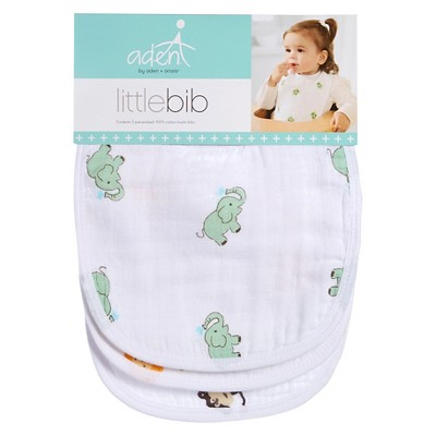 Aden + Anais Little Bib 3 pk Neutral Zooaroo