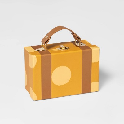 Small Paper Box Suitcase Yellow - Pillowfort™