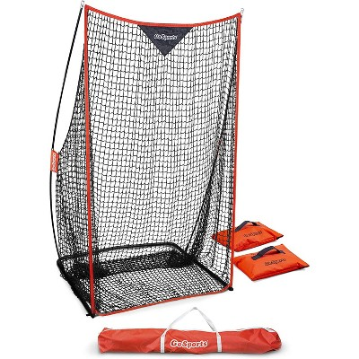 GoSports Football 7 x 4 Sideline Training Foldable Kicking Net for Placekickers and Punters with Travel Case and Weighted Sandbags