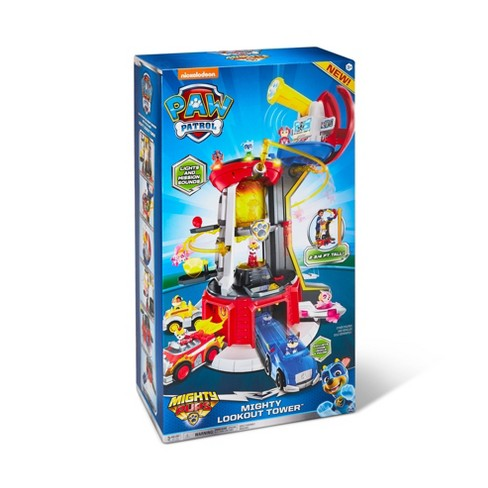 Paw Patrol Super Mighty Pups Lookout Tower With Chase Figure Target