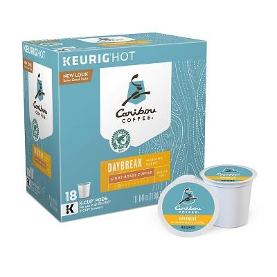 Caribou Coffee Daybreak Morning Blend Light Roast Coffee - Keurig K-Cup Pods - 18ct