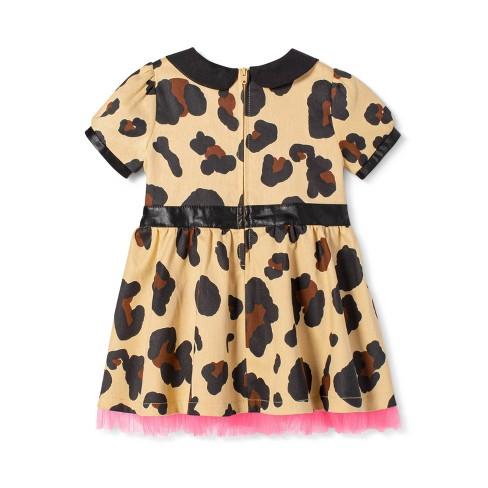 c03df8816d3fa Baby Girls' Leopard Print Short Sleeve Collared Tutu Mini Dress - Harajuku  Mini for Target Tan