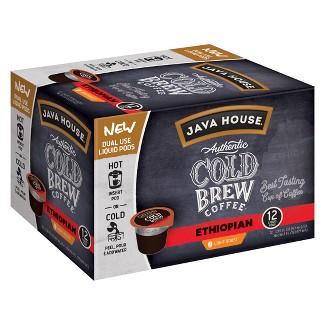 Java House Cold Brew Ethiopian Light Roast Single Serve - 12ct