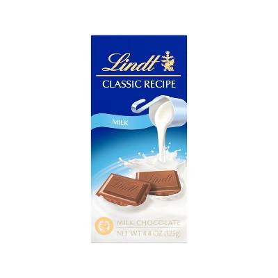 Lindt Classic Recipe Milk Chocolate Bar - 4.4oz