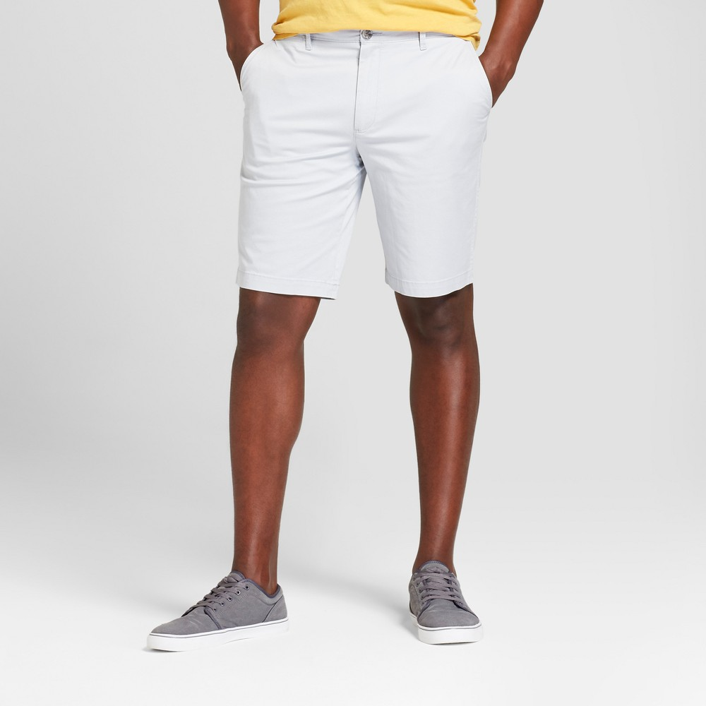 Men's 10.5 Linden Flat Front Shorts - Goodfellow & Co Masonry Gray 42