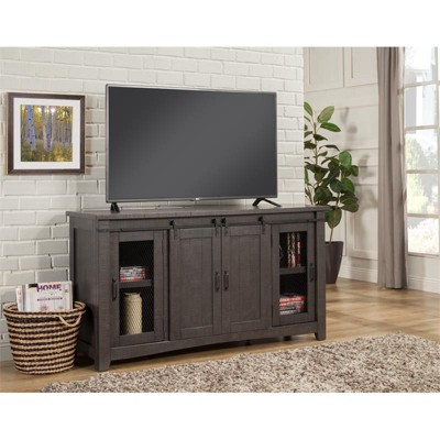 """Sierra 65"""" Solid Wood TV Stand Gray Finish - Martin Svensson Home"""