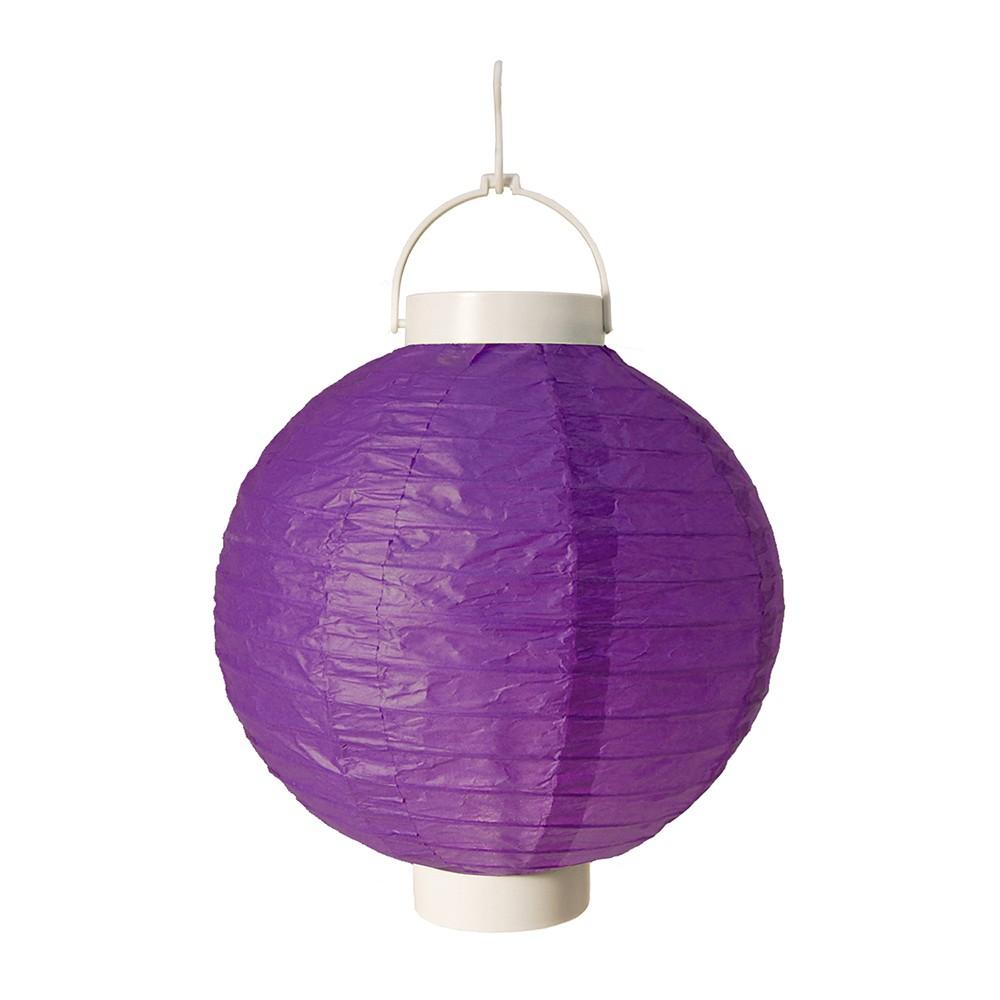3ct Purple Battery Operated Paper Lantern