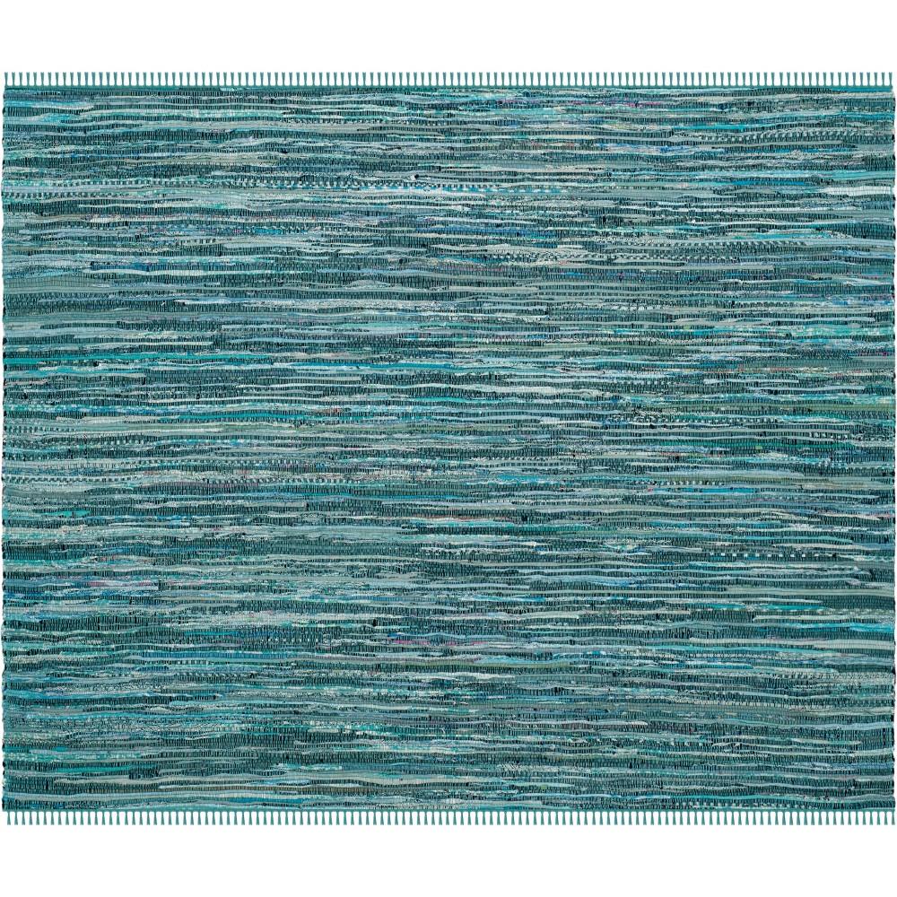6'X6' Spacedye Design Woven Square Area Rug Turquoise - Safavieh, Turquoise/Multi-Colored