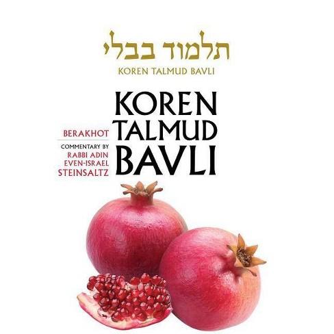 Koren Talmud Bavli, English, Vol.1: Berakhot: Daf Yomi (B&w) - by  Adin Steinsaltz (Hardcover) - image 1 of 1