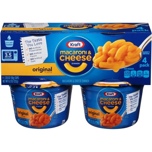 Kraft Original Flavor Macaroni & Cheese Dinner - 2.05oz 4pk - image 1 of 3