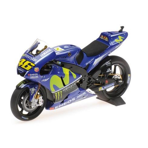 "Yamaha YZR-M1 #46 Valentino Rossi ""Movistar Yamaha Moto GP"" 2017 Moto GP Motorcycle 1/12 Diecast Model by Minichamps - image 1 of 3"