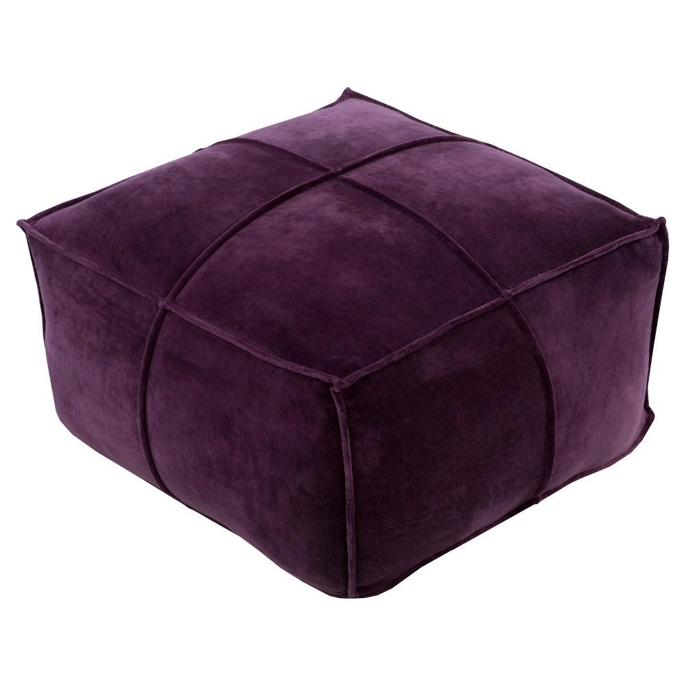 Purple Belinda Woven Ottomans (24x24