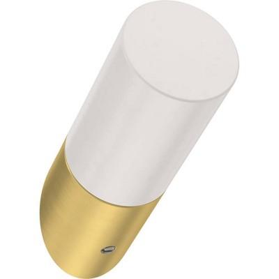 """Franklin Brass 5pk 2.25"""" Modern Slant Decorative Hooks Brushed Brass/White"""
