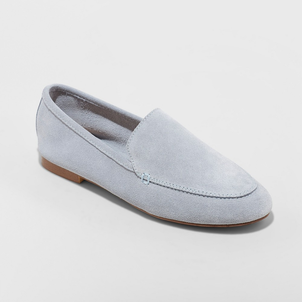 Women's Mila Suede Loafers - A New Day Blue 12