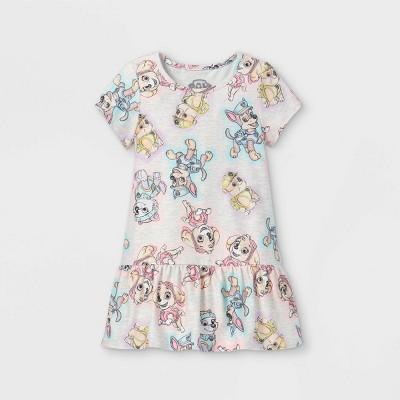 Toddler Girls' PAW Patrol Short Sleeve Knit Dress - Cream