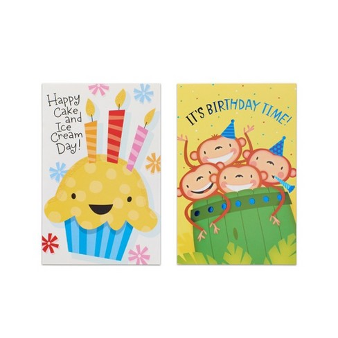 12ct Assorted Bright Birthday Cards And Envelopes