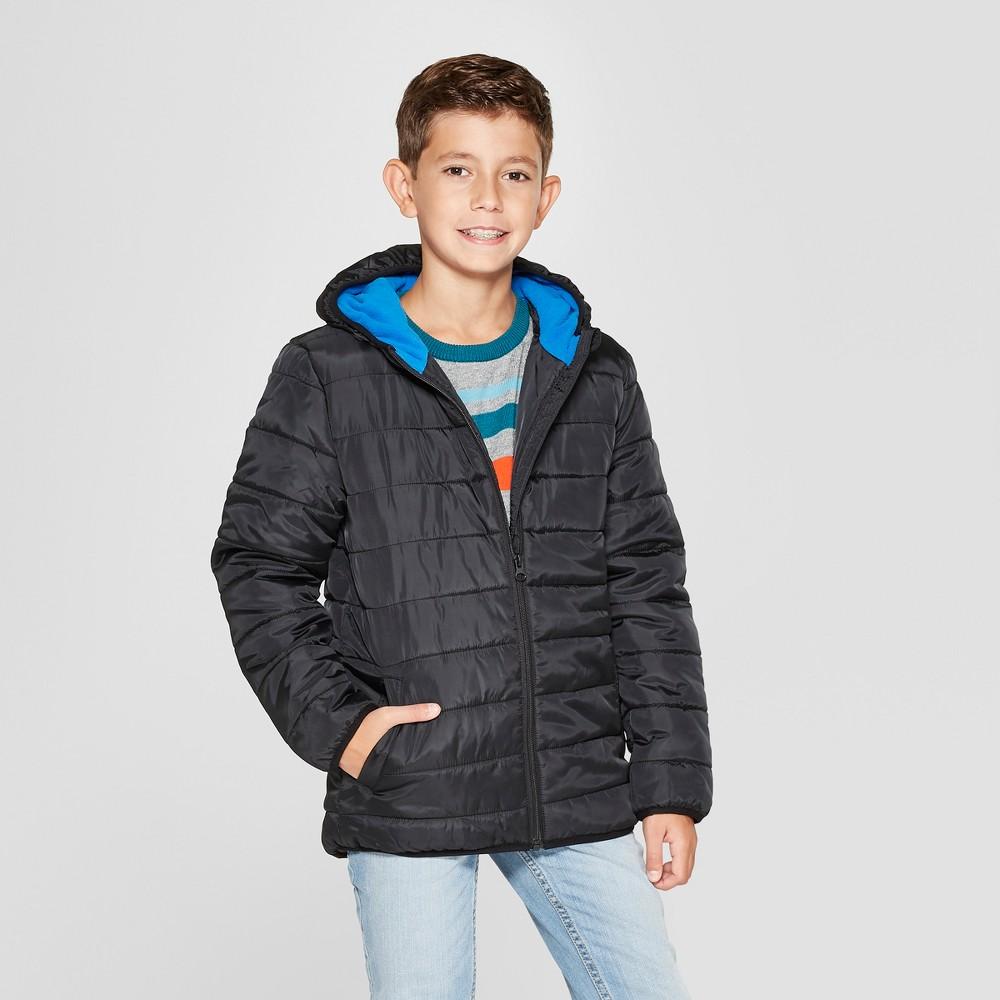 Boys' Puffer Jacket - Cat & Jack Black XL