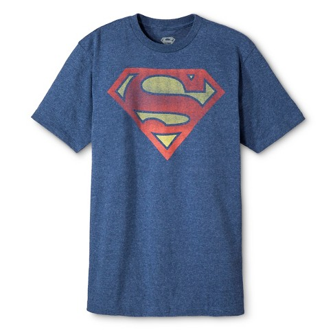 Men's Big & Tall Superman Shield T-Shirt Blue - image 1 of 2