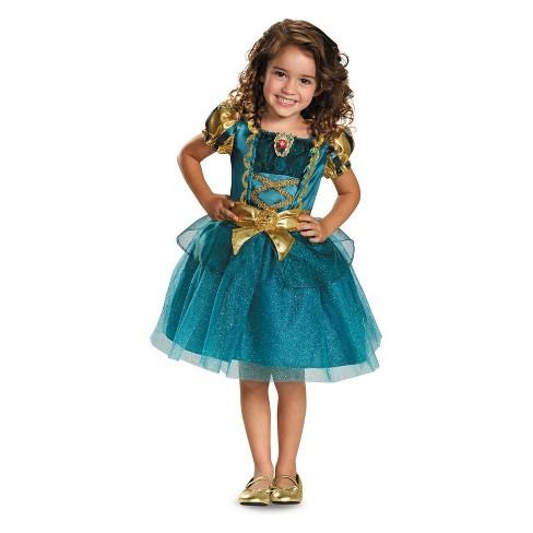 Toddler Girls Disney Princess Merida Halloween Costume 4t Target