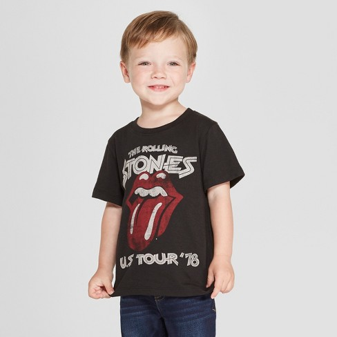 Toddler Boys' The Rolling Stones Short Sleeve T-Shirt - Black - image 1 of 3