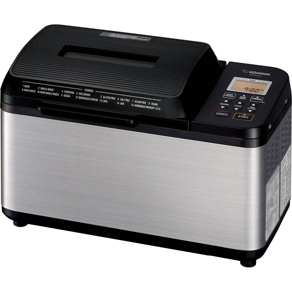 Image of Zojirushi Home Bakery Virtuoso Plus Breadmaker - Stainless Steel, Black Silver