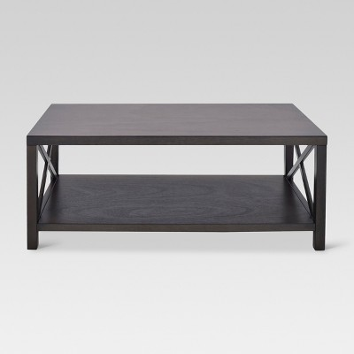 Owings Rectangle Coffee Table Espresso - Threshold™