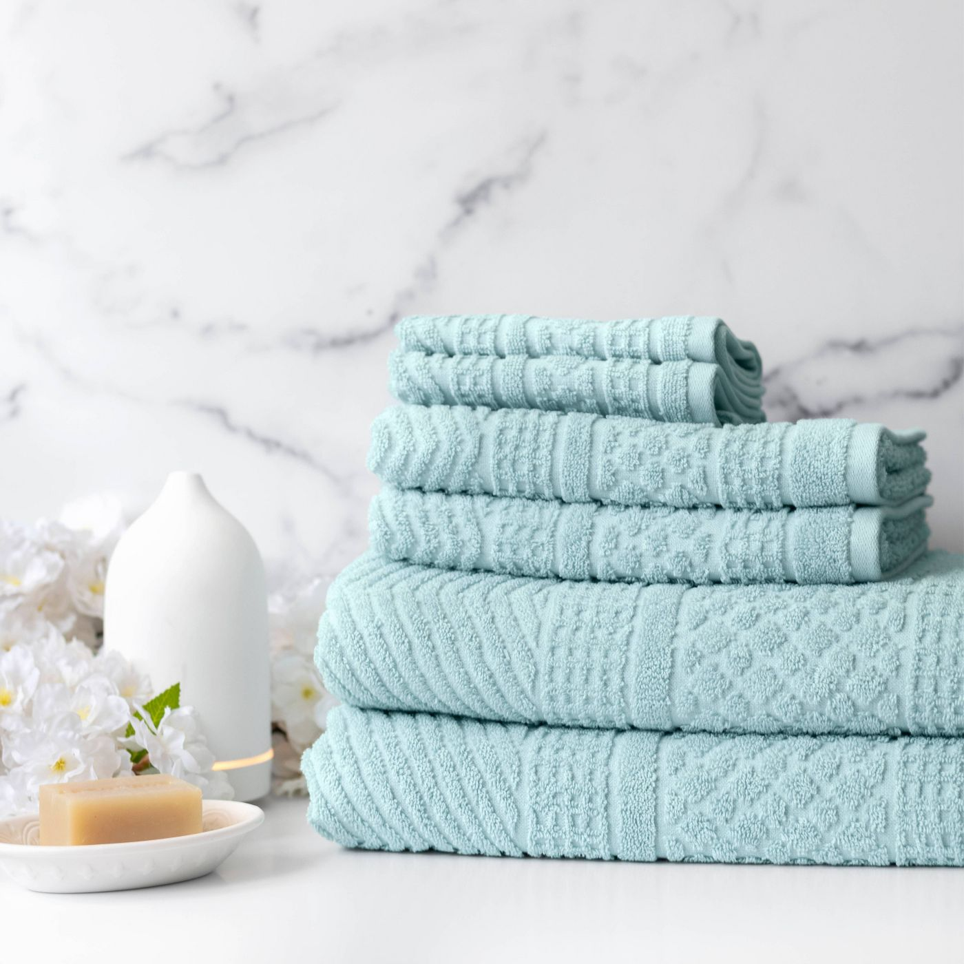 Loft by Loftex 6-Piece Apothecary Bath Towel Set