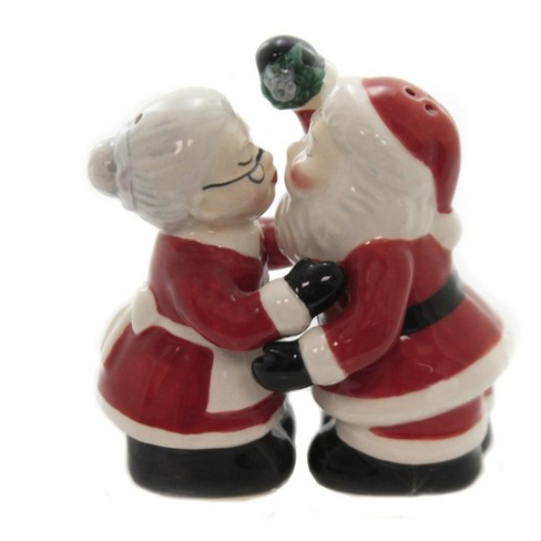 Tabletop 3 25 Kissing Santa Couple Mr Mrs Claus Cosmos Gifts Corp Salt And Pepper Shaker Sets Target
