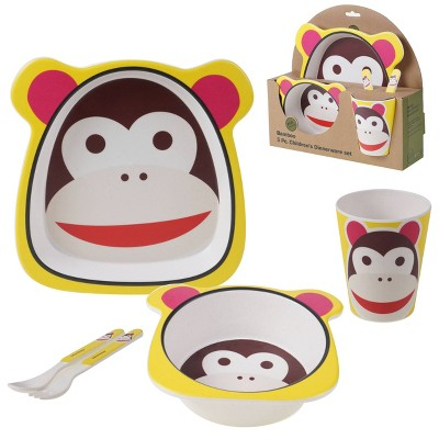 5pc Bamboo Monkey Children's Dinnerware Set - Certified International
