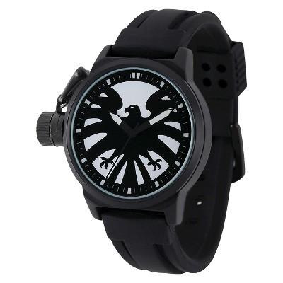 Men's Marvel Captain America Crown Protector Watch - Black
