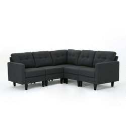 5pc Emmie Sectional Sofa Dark Gray - Christopher Knight Home