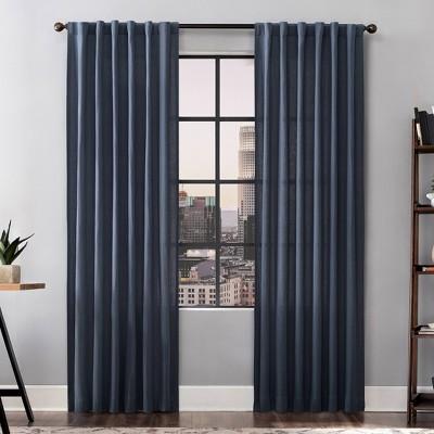 Renato Linen Blend Light Filtering Back Tab Curtain Panel - Scott Living