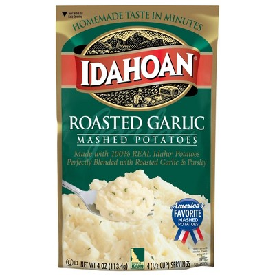 Idahoan Roasted Garlic Mashed Potatoes 4oz