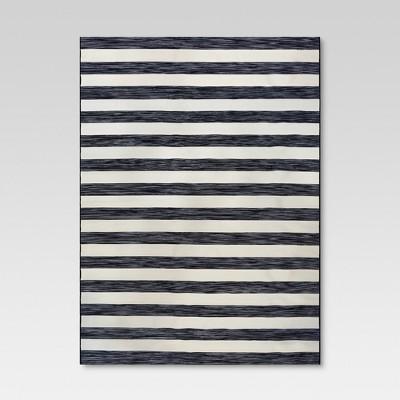 9' x 12' Outdoor Rug Worn Stripe Black - Threshold™