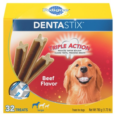 Pedigree Dentastix Beef Flavor Large Treats for Dogs -  32ct - image 1 of 5