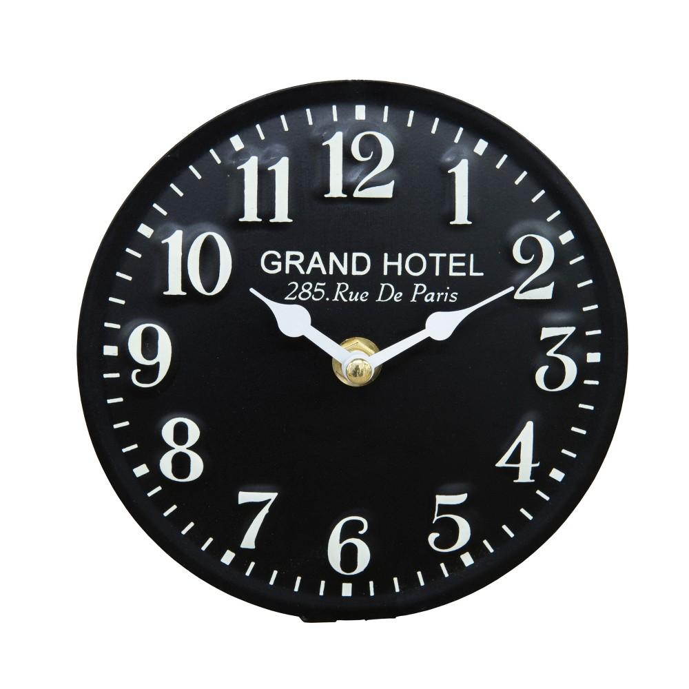 Vip Home & Garden 6x.5x6 Metal Table Clock Black