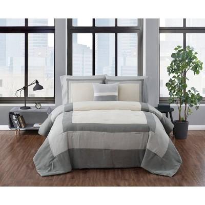 Dartford Microsuede Comforter Set - London Fog