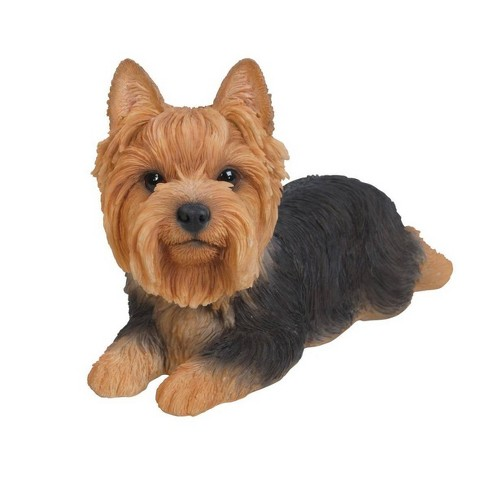 "5"" Polyresin Yorkshire Terrier Laying Down Statue Brown - Hi-Line Gift - image 1 of 1"