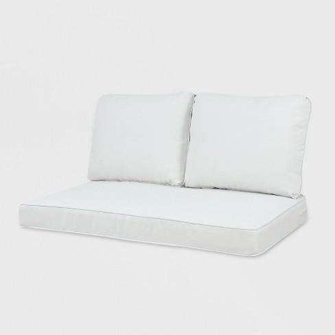 Phenomenal Rolston 3Pc Outdoor Loveseat Cushion Linen Grand Basket Creativecarmelina Interior Chair Design Creativecarmelinacom