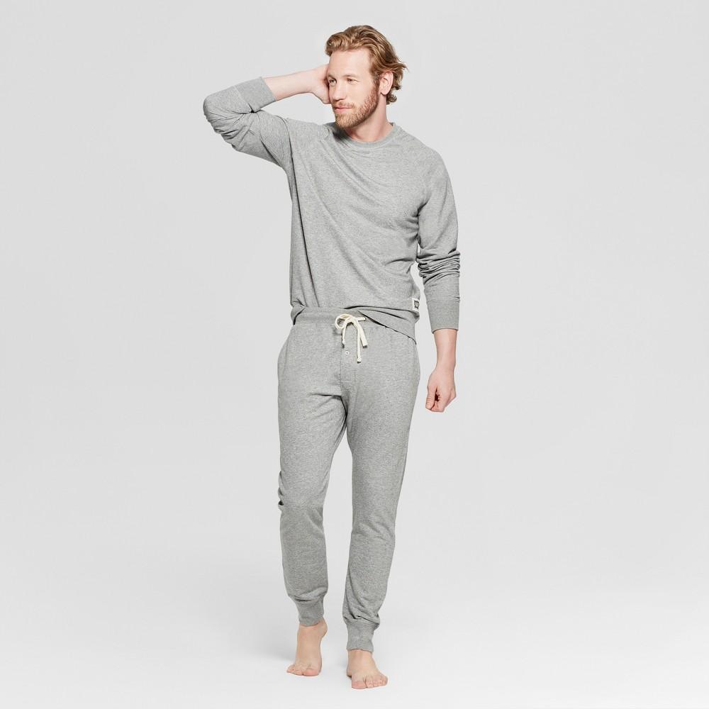 Hanes 1901 Men's Raglan Jogger Pajama Set - Gray S