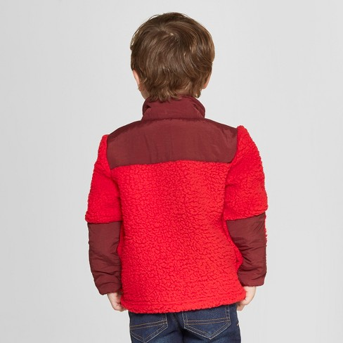 358e3883de6e Toddler Boys  Zip-Up Fleece Jacket - Cat   Jack™ Red   Target