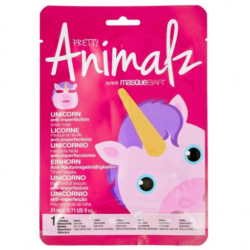 Masque Bar Anti-Acne Pretty Animalz Unicorn Sheet Mask - 0.71 fl oz - image 1 of 4