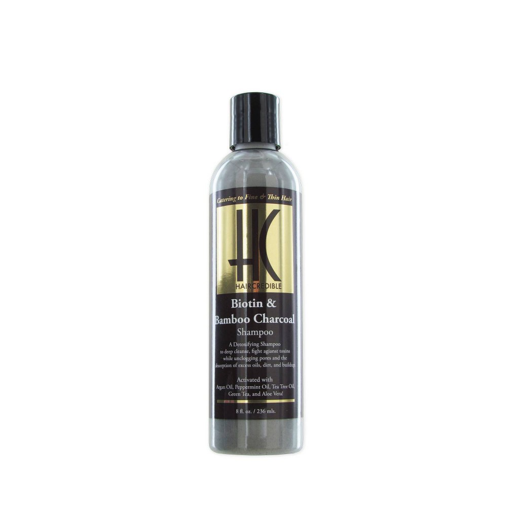 Image of Haircredible Biotin & Bamboo Charcoal Shampoo - 8 fl oz